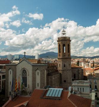 Bonita vista de la ciudad de Sabadell