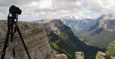 Desde la cima capturando time lapse.