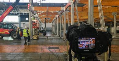 Grabando en hyper lapse una obra de construcción grande - DPF Productions