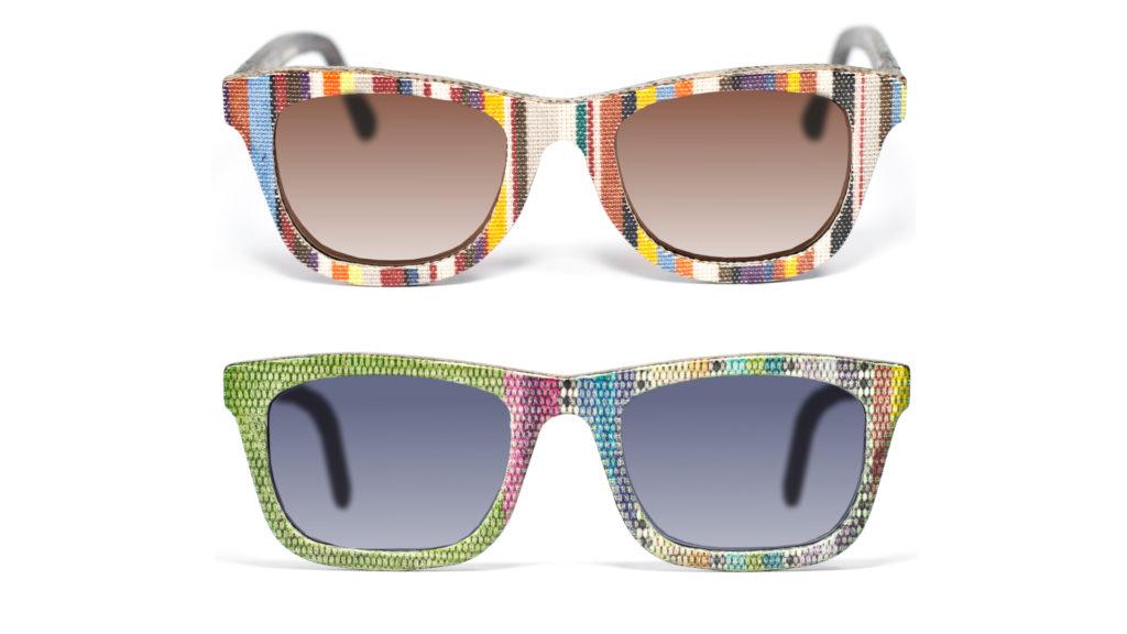 Gafas de sol hechas de tela